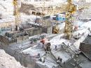 Октябрь 2006 г. Водоприёмник строительно-эксплуатационного водосброса (СЭВ). Бетонирование переходных участков